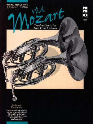 Mozart 12 Duets for 2 French Horns KV 487 (Bk-Cd) (MMO)