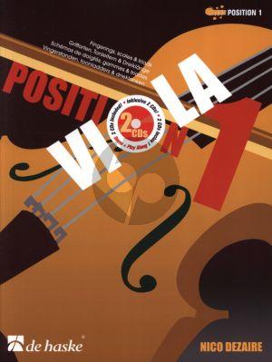 Dezaire Viola Position 1 (Fingerings, scales & triads) (Bk- 2 Cd's)