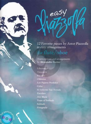 Easy Piazzolla for Flute or Oboe (12 Favorite Pieces)