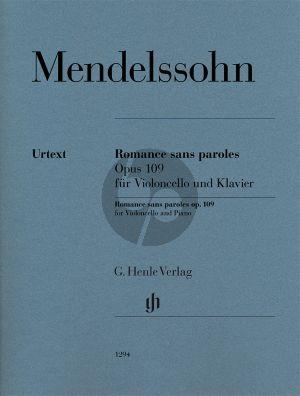 Romance sans paroles Op. 109 Violoncello-Piano