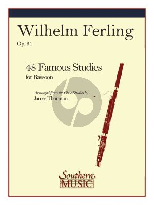 Ferling 48 Famous Studies Opus 31 for Bassoon (transcr. by James Thornton)
