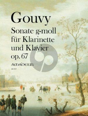 Gouvy Sonate in g-moll Op. 67 Klarinette[Bb]-Klavier