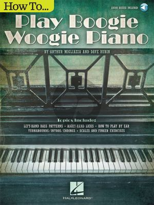 Migliazza-Rubin How to Play Boogie Woogie Piano (Book with Audio)
