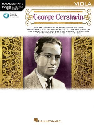 George Gershwin Instrumental Play-Along for Viola