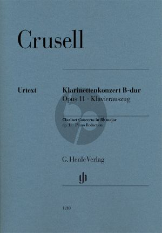 Crusell Concerto B-flat major Op. 11 Clarinet[Bb]-Piano (Henle)