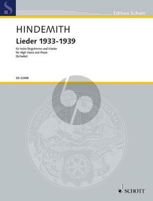 Hindemith  Lieder 1933-1939 Hohe Stimme mit Klavier