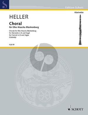 Heller Choral for Elke Mascha Blankenburg Clarinet[Bb] and Organ