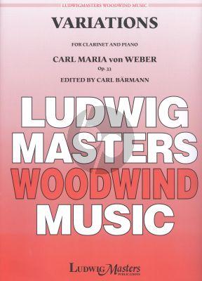 Weber Variations Op.33 Clarinet[Bb]-Piano (edited by Carl Baermann)