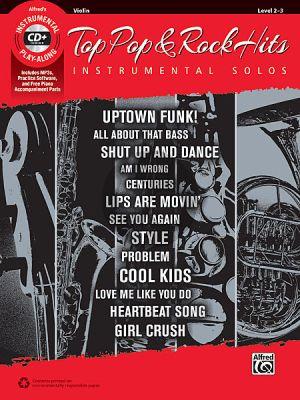 Top Pop & Rock Instrumental Solos Violin Bk-Cd