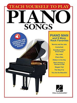 """Teach Yourself to Play Piano Songs """"Piano Man"""" & 9 Rock Favorites"""