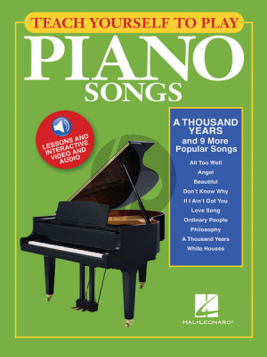 """Teach Yourself to Play Piano Songs """"A Thousand Years & 9 more popular Songs"""