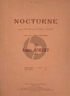Aubert Nocturne Op.7 Flute[Violin]-Piano