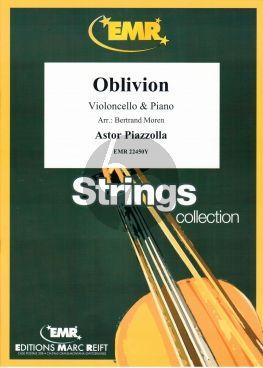 Piazzolla Oblivion Violoncello-Piano (arr. Bertrand Moren)