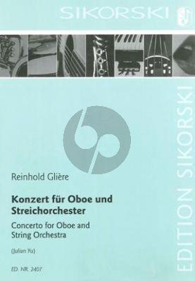 Gliere Konzert Oboe-Orchester Studienpart.