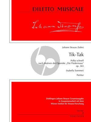 """Strauss Tik-Tak Polka schnell nach Motiven der Operette """"Die Fledermaus"""" Op.365)"""