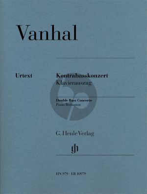 Vanhal Concerto Double Bass-Orch. (piano red.)