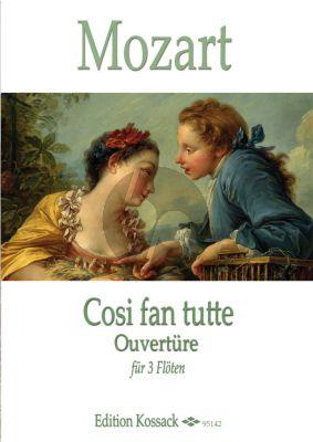 Mozart  Cosi fan tutte Ouverture für 3 Flöten (Part./Stimmen) (Henry Lea)