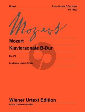 Mozart Sonata B -flat major KV 570 Piano