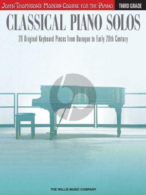 Thompson Classical Piano Solos Third Grade