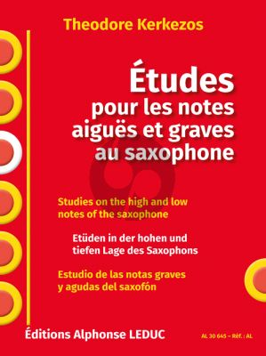 Kerkezos Etudes pour les Notes aiguës et graves au Saxophone