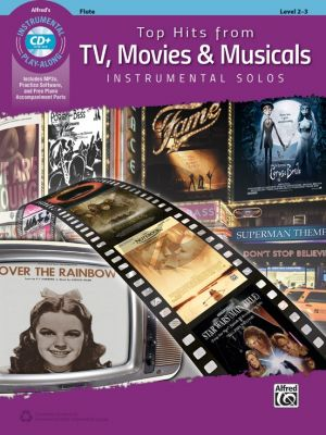 Album Top Hits from TV, Movies & Musicals Instrumental Solos for Flute (Level 2-3) (Bk-Cd)