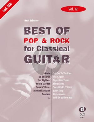 Best Of Pop & Rock for Classical Guitar Vol.12