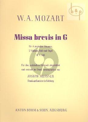 Missa Brevis G-dur KV 140 (SATB- 2 Vi.-Bass- Orgel)