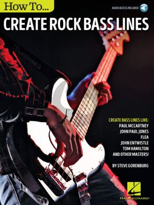 Gorenburg How to Create Rock Bass Lines (Book with Audio online)