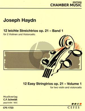 Haydn 12 leichte Trios Op.21 Vol.1 2 Vi.-Vc. (Stimmen)