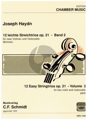 Haydn 12 leichte Trios Op.21 Vol.2 2 Vi.-Vc. (Stimmen)