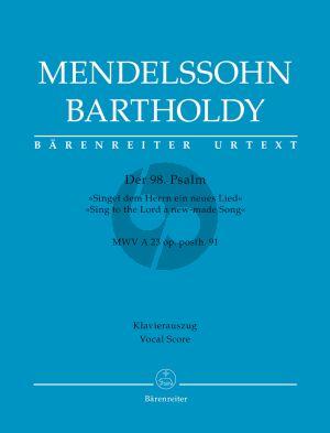 Mendelssohn Psalm 98 Singet dem Herren ein neues Lied