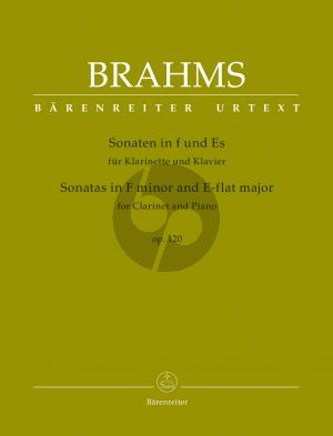 Brahms 2 Sonatas Op.120 Clarinet[Bb]-Piano (edited by Clive Brown)