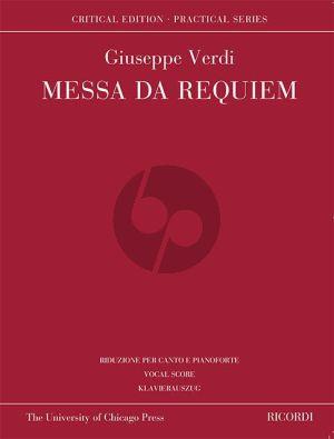 Verdi Messa da Requiem Soli-Choir-Orch. Vocal Score