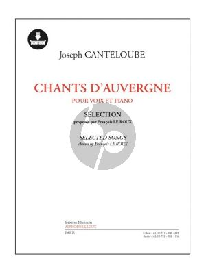 Canteloube Chants d'Auvergne (Selection) (Chant-Piano) (Book with Download Card)