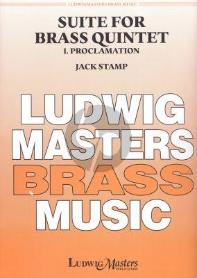 Stamp Suite for Brass Quintet No.1 Proclamation Brass Quintet