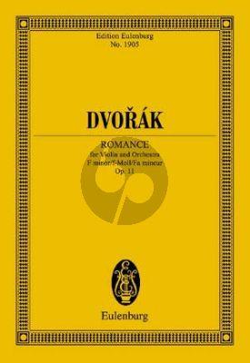 Dvorak Romance f-moll Op.11 Violine und Orchester (Studienpartitur) (Wolfgang Birtel)