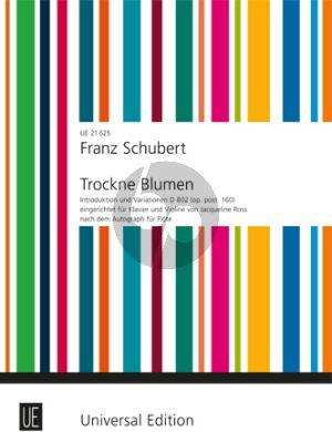 Schubert Introduktion und Variationen über Trockne Blumen D 802 Violine-Klavier