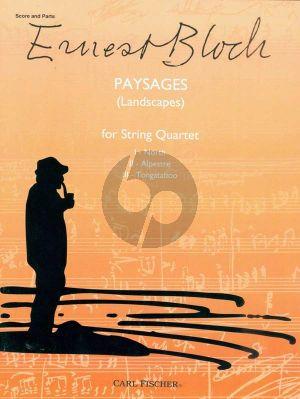 Bloch Paysages (Landscapes) 2 Vi.-Va.-Vc. (Score/Parts)