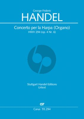 Handel Concerto B-flat major Harp (or Organ) HWV 294