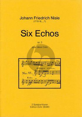 Nisle Six Echos Op.3 2 Horns (2 Scores)
