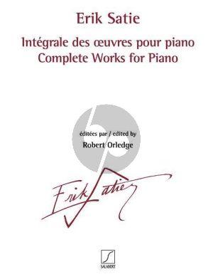 Satie Intégrale des œuvres pour piano