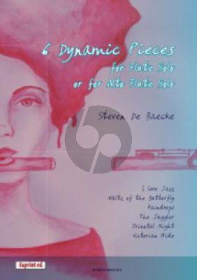 Baecke 6 Dynamic Pieces Flute Solo (or Alto Flute)