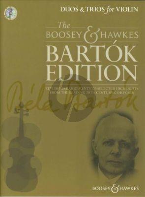 Bartok Duos & Trios for Violin (Bk-Cd) (edited by Hywel Davies)