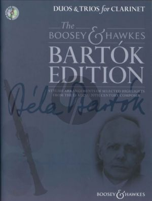 Bartok Duos & Trios for Clarinet (Bk-Cd) (edited by Hywel Davies)