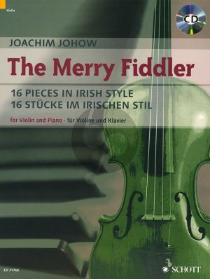Johow The Merry Fiddler (16 Pieces in Irish Style) Violin-Piano (Bk-Cd)