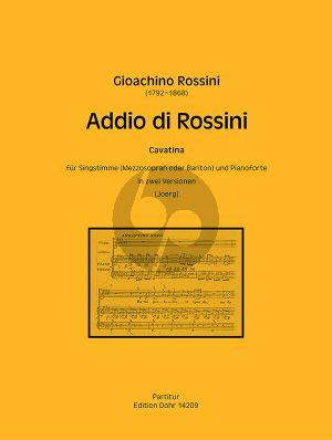 Addio di Rossini - Cavatina Mezzosopran (oder Bariton)-Klavier