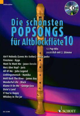 Die schönsten Popsongs für Alt-Blockflöte Vol.10