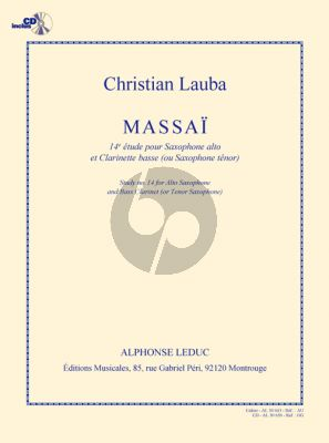 Lauba Massai (14e Etude) Saxophone Alto-Clarinette basse