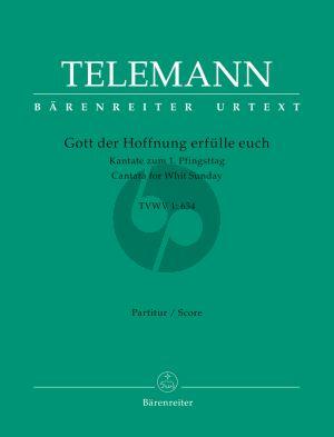 Telemann Gott der Hoffnung erfülle euch TVWV 1:634 Mixed Choir-String Orch. Score