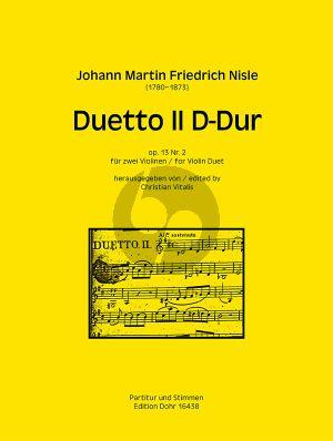 Nisle Duetto II D-Dur Op.13 No.2 2 Violinen
